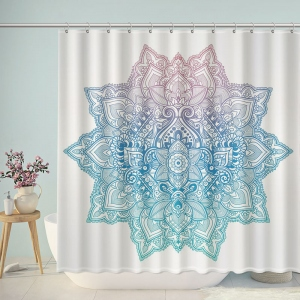 Pastel Mandala Pattern Shower Curtain