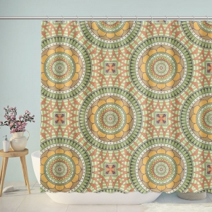 Vintage Boho Pattern Bathroom Shower Curtain