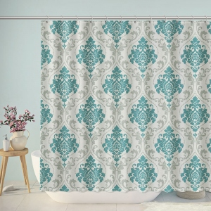 Vintage Traditional Floral Design Shower Curtain