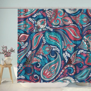 Liberty Paisley Colorful Pattern Shower Curtain