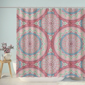 Traditional Boho Pattern Bathroom Shower Curtain
