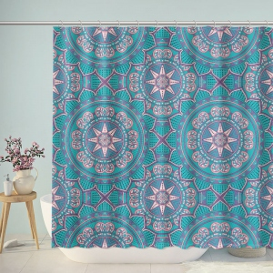 Boho Pattern Style Graphic Shower Curtain