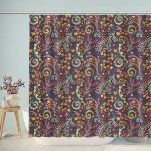 Beautiful Boho Floral Pattern Shower Curtain
