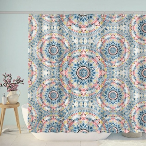 Ornament Circular Shapes Symmetrical Pattern Shower Curtain