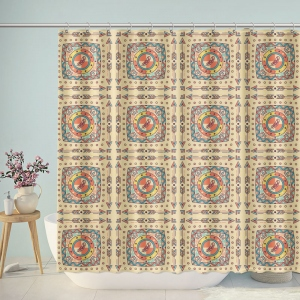 Decorative Boho Pattern Shower Curtain