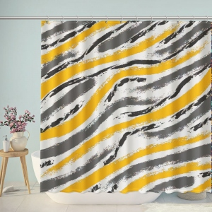 Grunge Brush Textured Tribal Pattern Shower Curtain