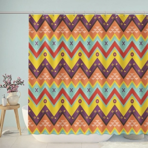 Zig zag Ethnic Pattern Shower Curtain