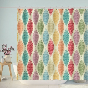 Vintage Colorful Patterns Shower Curtain
