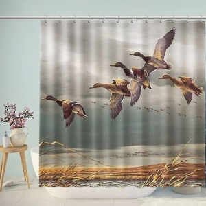 Oil Painting Landscape Shower Curtain