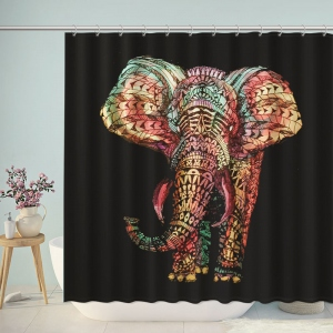 Mandala Elephant Colorful Shower Curtain