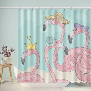 Hipster Greater flamingo Bathroom Shower Curtain