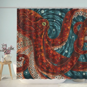 Sea Monster Octopus Bath Shower Curtain