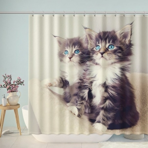 Pair Of Cute Kittens Shower Curtain