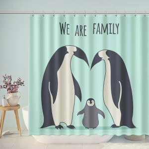 We Are Penguin Family Shower Curtain