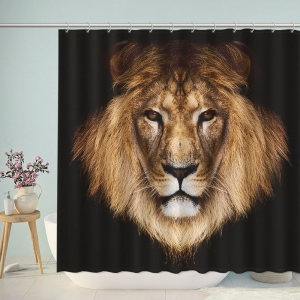 Lion Wild Animal Shower Curtain
