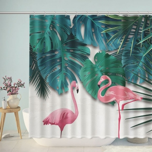 Flamingo Tropical Jungle Shower Curtain