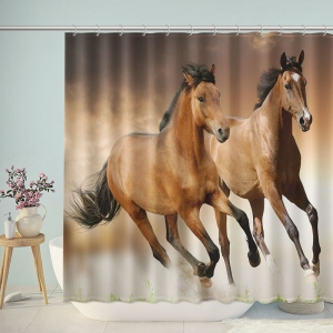 Running Horses Animal Shower Curtain