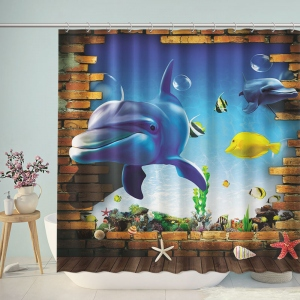 Ocean World Bathroom Shower Curtain