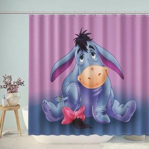 Cute Eeyore Cartoon Bathroom Shower Curtain
