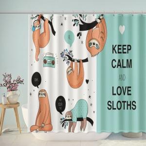 Cute Keep Calm and Love Sloths Shower Curtain