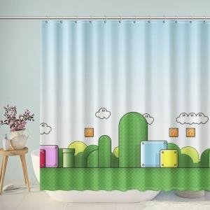 Nintendo Mario Background Shower Curtain