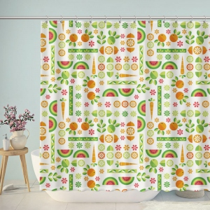 Fresh Fruits Print Shower Curtain