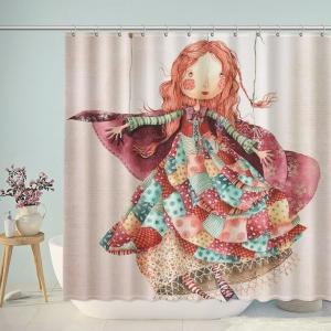 Cartoon Girl Holly Clifton Shower Curtain