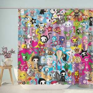 Tokidoki Characters Print Shower Curtain