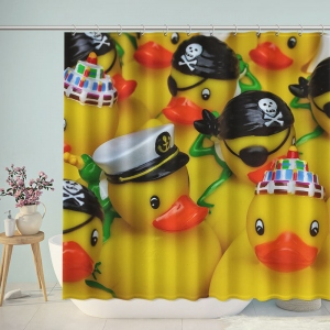 National Rubber Ducky Day Shower Curtain