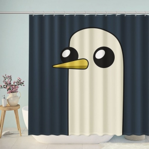 Cute Penguin Silhouette Shower Curtain