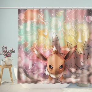 Cute Pikachu Shower Curtain