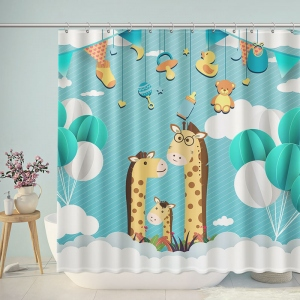 Sweetheart Giraffe Family Shower Curtain