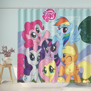 My Little Pony Kids Bathroom Shower Curtain