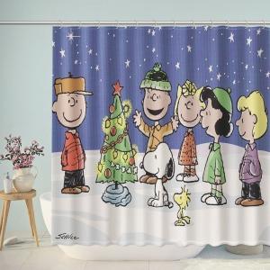 Snoopy Christmas Snow Kids Shower Curtain