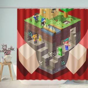 Minecraft Kids Bathroom Shower Curtain