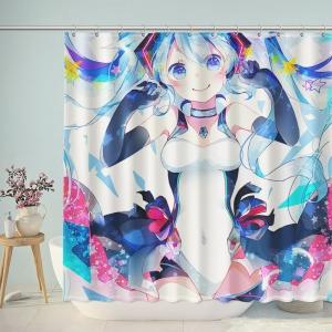 Cute Hatsune Miku Shower Curtain