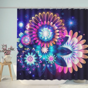 Abstract Brilliant Magic Flower Shower Curtain