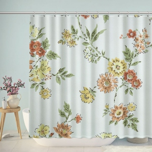 Antique Floral Diana Flower Shower Curtain