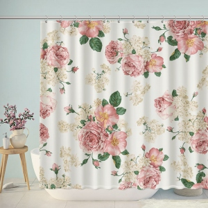 Vintage Pastel Flower Rose Shower Curtain