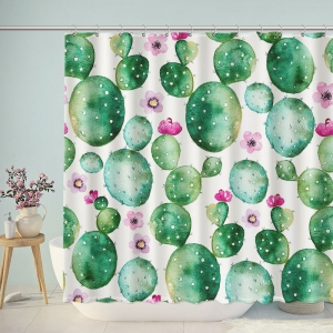 Watercolor Saguaro Cactus Shower Curtain