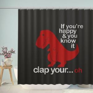 Happy Tyrannosaurus Rex Shower Curtain