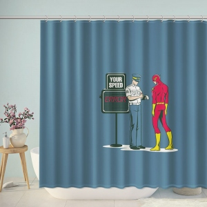 The Flash Get Speeding Ticket Shower Curtain