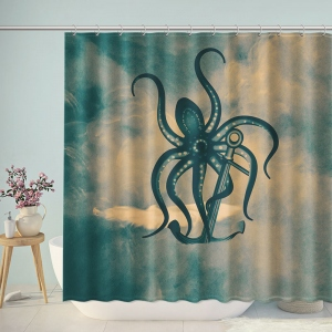 Monster Octopus Grab Anchor Shower Curtain
