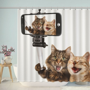 Funny Cat Lover Take Photo Shower Curtain