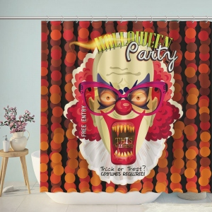 Halloween Party Poster Shower Curtain