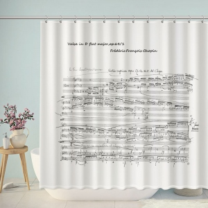 Music Score Manuscript Shower Curtain