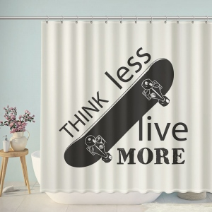 Think Less Live More Skateboard Shower Curtain