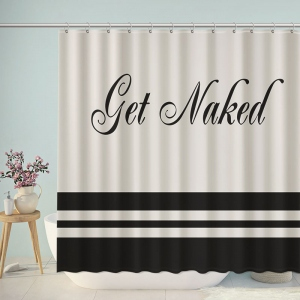 Get Naked Bathroom Shower Curtain