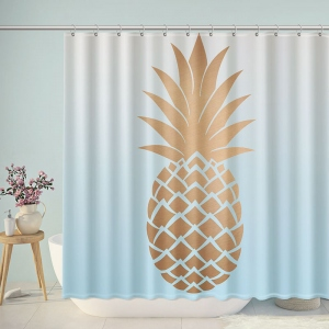 Rose Gold Pineapple Marble Shower Curtain