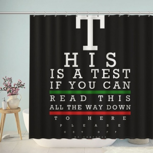 Alternative Vision Test Shower Curtain